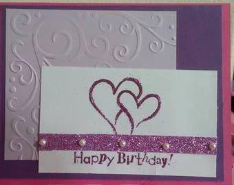 Happy birthday with hearts