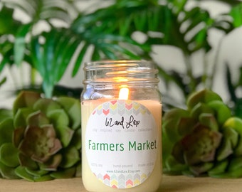 Farmers Market Soy Candle/Candle/Soy Candle/Summer Candle