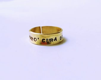 Brass Ring with custom engraving