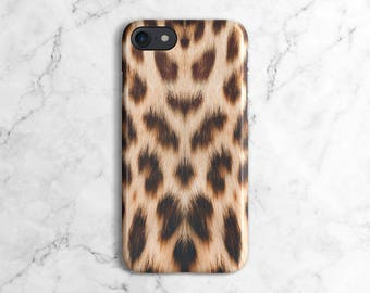 Leopard Fur Pattern Phone Case for iPhone 6 / 6S, iPhone 6 / 6S Plus, iPhone 7, iPhone 7 Plus, Samsung Galaxy S8 | DLC3