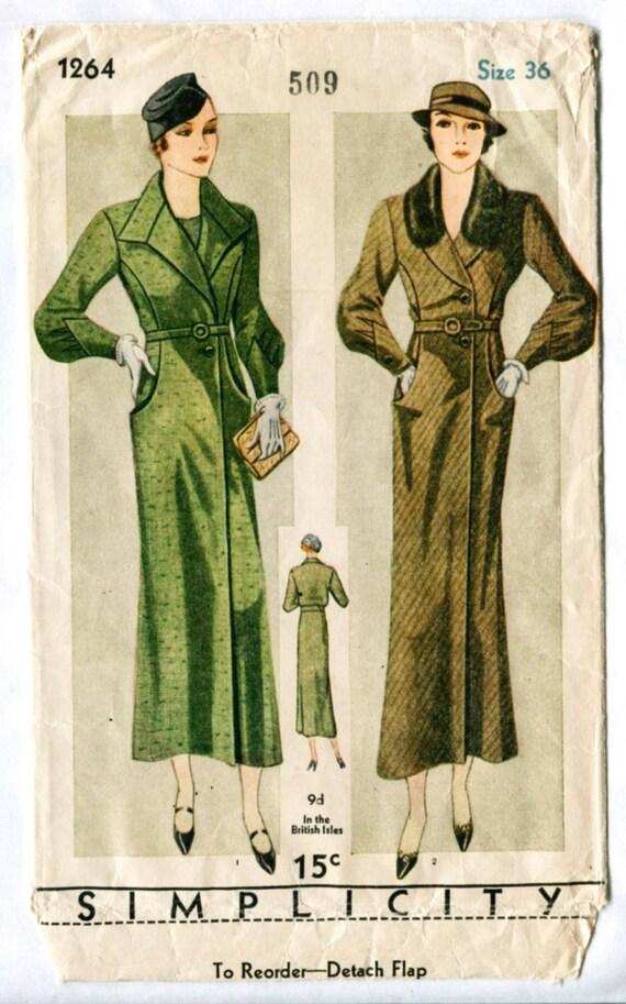 Vintage Schnittmuster der 1930er Jahre 30er Jahre Einfachheit