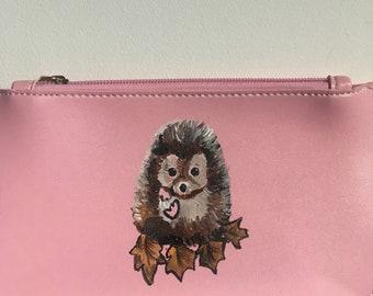 Hedgehog, purse, pink purse, for hedgehog lovers, for purse lovers, hedgehog gift