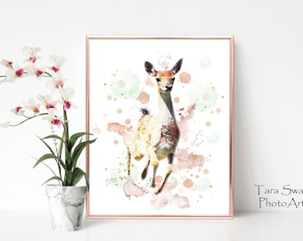 Fawn Watercolour Print 11 x 14