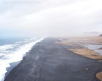 Black Sand Beach, Iceland Photography, Vik Iceland, Landscape Photography, Beach Photography, Ocean Photograph, Coastal, Dramatic Scenic