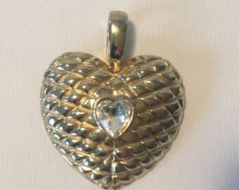 Mega big heart, vintage necklace Pendant
