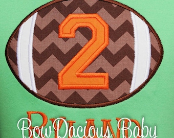 Personalized Football Birthday Shirt, Boys' Football Birthday Shirt or Bodysuit, Pick Your Colors, Any Age