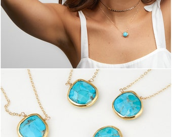 Turquoise jewelry etsy natural turquoise necklace gold turquoise jewelry turquoise pendant bridesmaid necklace layered necklace audiocablefo