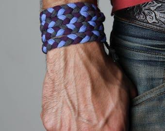 Braided Bracelet, Wrap Bracelet, Festival, Mens Jewelry, Man Gifts, Gift for Husband, Boyfriend, Festival Clothing, Mens Bracelet, Mens