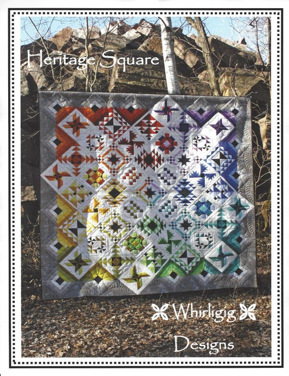 Heritage Square Quilt Pattern By Whirligig Designs Wd Hsbom