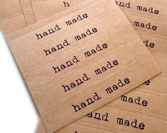 """Selbst Klebstoff Verschlüsse """"handgemacht"""" für Kekse, Plätzchen oder andere Hand gemacht-Artikel - Packungen von fünfzig"""