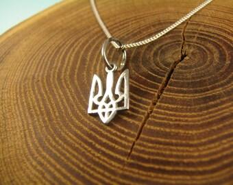 Tryzub, Ukraine Symbol Trident Necklace, Ukraine jewelry, Ukrainian Trident, ukrainian tryzub, ukrainian necklace, Viking, ukraine pendant