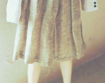 jiajiadoll -cotton-flax skirt for Momoko or Misaki or Blythe