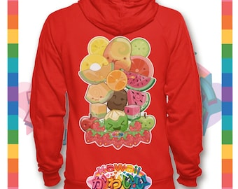 Kawaii Universe - Cute Classic Fruits Group Designer Hoody / Sweater (Unisex)