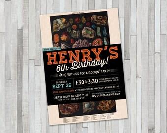 Rocks & Minerals Birthday Invitation
