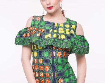 African Print Eva Top