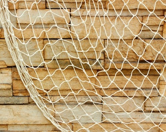 Fish Netting Rope Party Theme Decor, Natural, 6.6-Feet