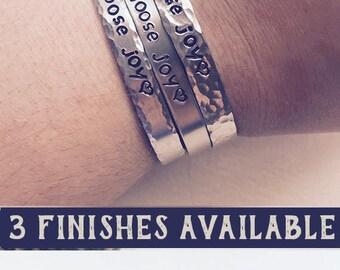 Choose Joy Bracelet, Christian Gifts Under 10, Mantra Bracelet, Birthday Gifts For Her, Holiday Gifts Under 10, Handstamped Bracelet
