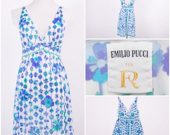 EMILIO PUCCI for Formfit Rogers 1960's Floral Print Night Gown