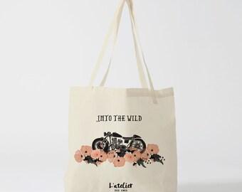 X48Y Tote bag into the wild, tote bag races, courses bag, shopping bag, cotton bag, canvas bag, diaper bag, bread bag, bag Beach
