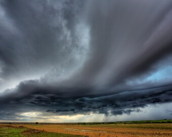 Fine Art Print of a supercell thunderstorm in Texas on 5-9-13