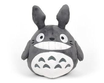 Totoro Plush Chubby Round Ghibli Stuffed Animal in Minky Faux Fur