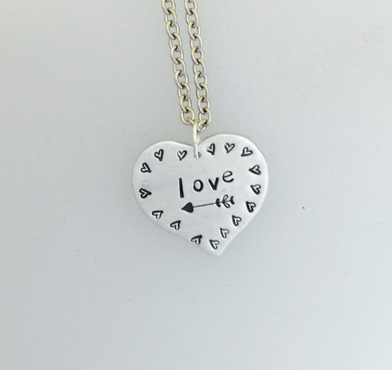 Love necklace-Valentine's Necklace-Anniversary-Romance-Wedding-Gift-Heart Necklace-Birthday-Vegan Necklace-Birthday-Love-Mother's Day