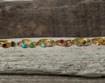 Gold Birthstone Rings, Gold Stacking Rings, Choose Your Stone, Stackable Rings, Dainty Rings, Birthstone Rings, Gemstone Rings, Mommy Jewels