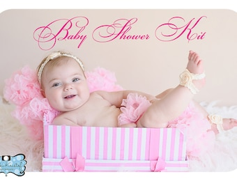 Baby Shower Kit / DIY Kit - Enough materials to make 15 headbands