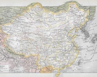 Original 1922 map of China