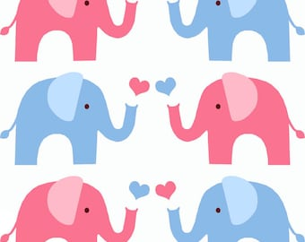 Elephant nursery stencil, home decorating and art craft stencil - paint walls fabrics and furniture - Ideal Stencils Ltd