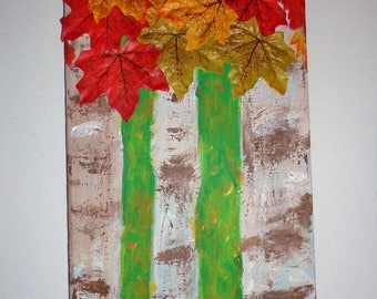Autumn Trees Acrylic Painting