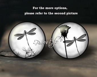 Dragonfly, Handmade Photo Glass Cabochon, Round cabochons, Cabs Cabochons, Image Glass Cabochon, glass cabochons, Dome cabochons