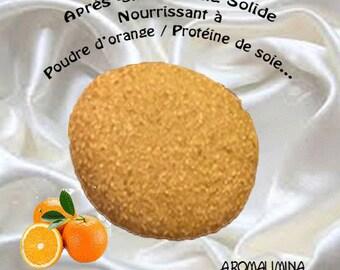Solid conditioner, solid shampoo, stone after shampoo 100% natural, nourishing conditioner orange 50g powder