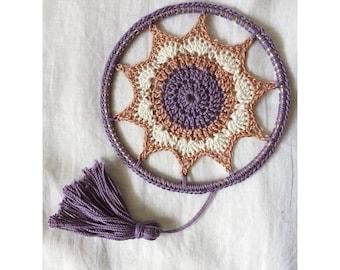 Friendship mandala, sacred mandala, crochet mandala, crochet dreamcatcher, doily crochet, crochet sun catcher, mandala decor, crochet doily