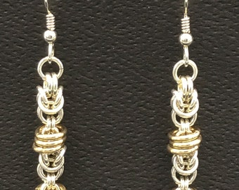 Three-Rings Chain Maille Earrings