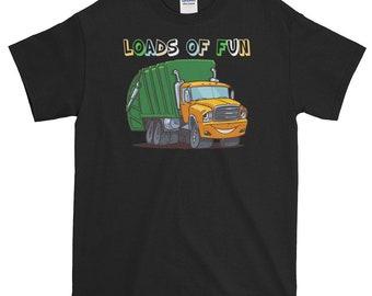 Garbage-Truck, Loads-Of-Fun T-shirt, Gift, Children, Kids