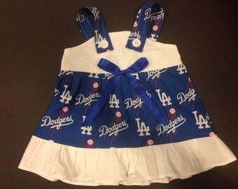 MLB LA Los Angeles Dodgers Baby Infant Toddler Girls Dress  You Pick Size