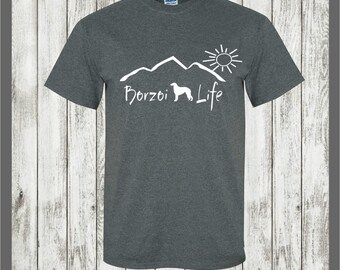 Borzoi Life T-shirt....Borzoi shirt, borzoi gift, gift for pet owner, gift for dog lover, dog shirt, borzoi decal, borzoi hound t shirt