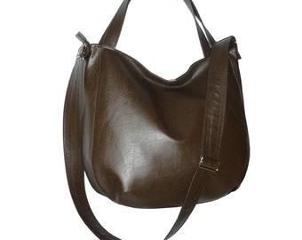 dark brown hobo bag, dark brown crossbody bag, brown leather crossbody bag, brown leather hobo bag, dark brown crossbody purse, dark brown