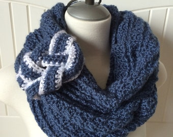 Crochet Scarf Pattern - The Maritimes Miss Scarf - Crochet Infinity Scarf Pattern, Instructions in Pictures and Writing - Instant Download!
