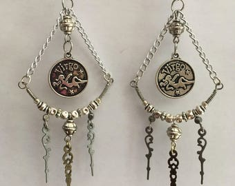 Virgo goddess earrings