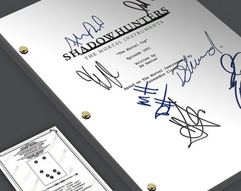 Shadowhunters TV Mortal Instruments - Gift Stele Runes Script Screenplay Signed Autograph RPT - Cassandra Clare, Clary Fray, Jace Wayland