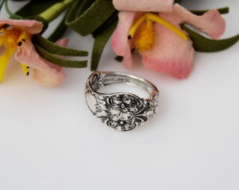Vintage Silverplate Spoon Ring  Size 8 1/2