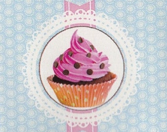 "CUP CAKE 2: coupon TWILL of cotton pattern ""cup cake"""