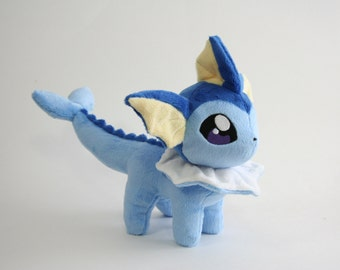 Pokemon Plush Vaporeon Fan-made - Made to Order