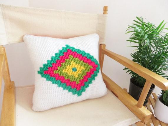 Geometric tunisian crochet pillow pattern aztec cushion cover geometric tunisian crochet pillow pattern aztec cushion cover tunisian crochet pattern from pomenco on etsy studio dt1010fo