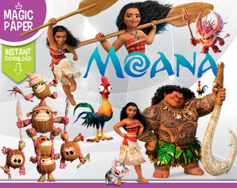Moana Clipart - Digital 300 DPI PNG Images, Photos, Scrapbook, Digital, Cliparts, Decoration- Instant Download