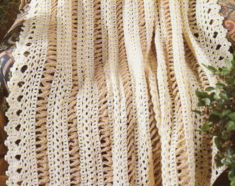 Extra Wide Border Afghan Crochet Pattern  Wide Border Afghan Crochet Pattern PDF Instant Download
