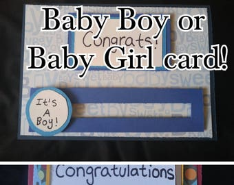 Congratulations Card for a Baby Boy or Baby Girl