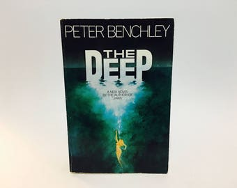 Vintage Thriller Book The Deep by Peter Benchley 1976 Softcover